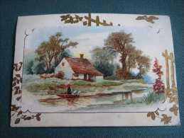 Chromo Publicitaire ,Vve Fonteny A Tours-10.1 X 7.1cm - Trade Cards