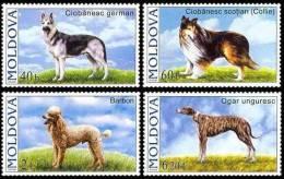Moldova Moldavie 2006  Yvertn° 489-92 ***  MNH Cote 12,00 Euro Faune Honden Chiens Dogs - Moldavie