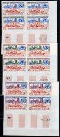 MAURITANIE - NON DENTELE -  N°156/158 ** Bloc De Quatre Coin Daté  - 1962 - Mauritania (1960-...)