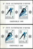 0923 Sport Winter Olympics 1968 Rwanda 2S/s MNH ** 15ME - Winter 1968: Grenoble