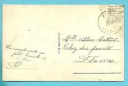 Kaart Verstuurd Met Correspondentie Onder De Postzegels / Message Secret Sous Le Timbre / Fraude Postale : Texte Sous Le - Non Classés