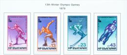 BULGARIA  -  1979  Winter Olympic Games  Mounted Mint - Bulgaria