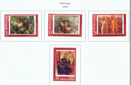 BULGARIA  -  1979  Paintings  Mounted Mint - Bulgaria
