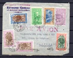 Chef Sakalave, Attelage, Femme Betsiléo, Femme Hova Sur Fragment De Lettre - Madagascar (1889-1960)