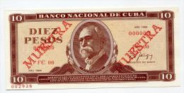 "Cuba 10 Pesos 1988 """" MUESTRA """" SPECIMEN  UNC - RARE !!! - Cuba"