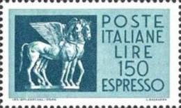 ITALIA REPUBBLICA ITALY REPUBLIC 1968 ESPRESSO CAVALLI ALATI LIRE 150 MNH - Posta Espressa/pneumatica