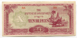 Malaysie Malaya - Japenese Government 10 Dollars 1942 & 1944 - Malasia