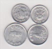 Münzen Nepal, 1, 2, 5 Paise, Vzgl., Ansehen - Nepal
