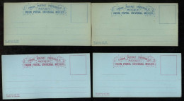 Mexiko Mexico Ca 1880 4 Postal Stationery Formular - Mexique