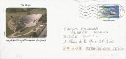 D411 Entier / Stationery / PSE - PAP TGV Est - Les Vosges, Amphithéâtre Gallo-romain De Grand - Enteros Postales