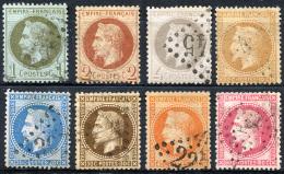 FRANCE 1863-70 Empire - Mi.24-31 (Yv.25-32) 1st Selection (all Perfect) VF - 1863-1870 Napoléon III Con Laureles