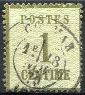 ALSACE-LORRAINE 1870 - Yv.1 (Mi.1, Sc.N1) Used Thin (aminci) But Nice - Alsazia-Lorena