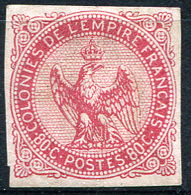 COLON. GEN. 1865 - Yv.6 (Mi.6, Sc.6) MNG (no Gum) All Margins (VF) Signed - Aigle Impérial