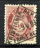 NORWAY 1897 Perf.13.5x12.5 - Yv.56B (Mi.60B, Sc.57a) Nice Cancel (perfect) VF - Oblitérés