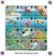 Solomon Islands - 1999 ( Marine Life - PhilexFrance 99' World Philatelic Exhibition ) - Sheet Of 12 - MNH (**) - Salomon (Iles 1978-...)