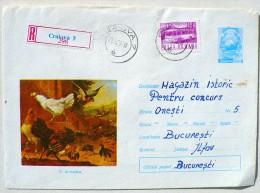 ROUMANIE Poule, Gallinacée, Coq, Entier Postal Emis En 1972, Et Ayant Voyagé - Gallinacées & Faisans
