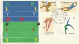 Australia 1976 Mexico Olympic Games,Sydney Postmark, FDC - Ersttagsbelege (FDC)