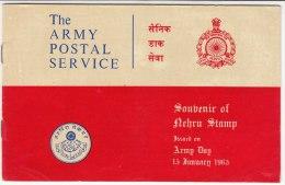 Army Souvenir Nehru India (Without Stamp), Topic Vietnam, Cambodia, Congo, Korea, Map, Elephant, 1965 - India