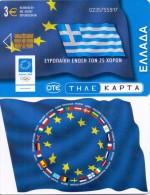 GREECE PHONECARD EUROPEAN UNION FLAG HELLAS  ,X1765- 90000pcs-4/04-USED - Greece