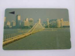 Macau GPT Magnetic Phonecard,1MACJ Bridge,first Issued,used - Macau