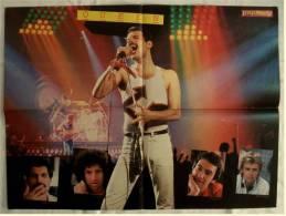 Musik Poster  - Gruppe Queen - Ca. 56 X 41 Cm  -  Von Pop Rocky Ca. 1982 - Plakate & Poster