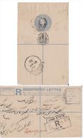 Jhind  State  QV 2A  Registered Postal Stationery Envelope  Dadri To Sangrur  # 81504  India  Inde  Indian - Jhind