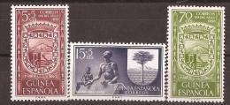 GUI362-L4160TESSC.Guinee GUINEA ESPAÑOLA.DIA DEL SELLO.Escudo De Bata Y Sta Isabel.1957.(Ed 362/4**) Sin Charnela LUJO - Escudos De Armas