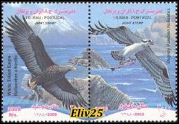 Iran 2009, Birds Of Prey (joint Issue With Portugal) - 2 V. MNH (**) - Adler & Greifvögel