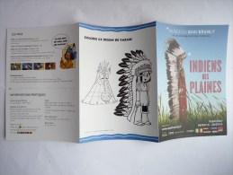 FLYERS Expo Indiens Des Plaines Musée Du Quai Branly - DERIB Yakari - Objets Publicitaires
