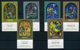 1973 Israele, Vetrate Di Chagall 2° Serie, Serie Con Appendice , Serie Completa Nuova (**) - Israele