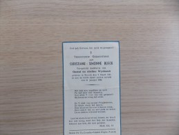 Doodsprentje Christiane Simonne Blieck Wervik 7/3/1941 - 31/1/1946 ( D.v. Gustaf En Abéline Wyckaert) - Religione & Esoterismo