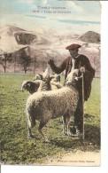 TYPES PYRENNENS  Patre Avec Ses Moutons - Personnages