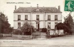 CPA-72-191-BEAUMONT-SUR- SARTHE-MAIRIE.ECRITE. - Beaumont Sur Sarthe