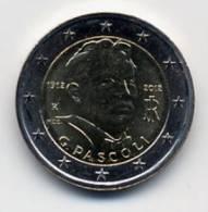 2012 ITALIA 2 EURO, 100° DE LA MUERTE DE G. PASCOLI (FDC - UNC) - Italia