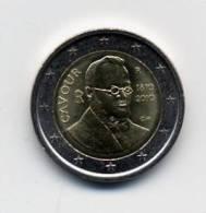 2010 ITALIA 2 EURO, BICENTENARIO DEL NACIMENTO CONDE DE CAVOUR (FDC - UNC) - Italia