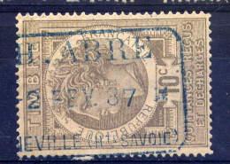 1887---BONNEVILLE --74---Quittances Reçus Et Décharges  10c --PH..ABRE - Steuermarken