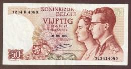 BELGIQUE 50 Francs16.05.1966  SERIE 1294R... - [ 6] Staatskas