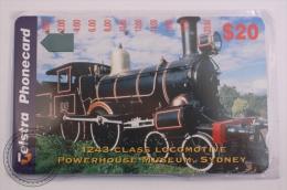 Phone Card Australia, Telstra 20$ - Train/ Railway  Engine/ Locomotive - 1243 Class Locomotive Powerhouse Museum, Sydney - Trenes