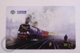 China Tietong Phone Card - Train/ Railway  Engine/ Steam Locomotive , Golden Arrow Train - Trenes