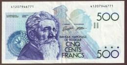 BELGIQUE 500 FrancsND  1982-98  Signatures: Van Droogenbroeck & Verplaetse - [ 2] 1831-... : Reino De Bélgica