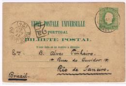 Madeira, 1887, # 5, Madeira- Rio De Janeiro - Madeira