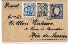 Madeira, 1895, # 6; 11,  BBC,  Funchal- Rio De Janeiro - Madeira