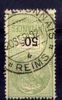 REIMS (crédit Lyonnais)--51-Marne -Quittances,reçus Et Décharges  50c  Avec Cachet De La Banque -belle Oblitération - Steuermarken