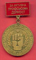 F1589 / PLEVEN - ACTIVE Union Activities - Veteran - Bulgaria Bulgarie Bulgarien - ORDER MEDAL - Professionals / Firms