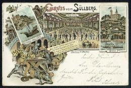 Gruss Vom Sullberg - Johs. Krogers Buchdruckerei, Blankenese. Lithograph ---- Old Postcard Traveled - Blankenese