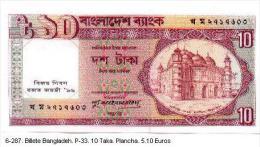 6-287. Billete Bangladesh. P-33. 10 Taka - Bangladesh