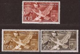 GUI373-L4161TESS.Guinee GUINEA ESPAÑOLA.AYUDA A VALENCIA.Escudo De Valencia Y Sta Isabel.1958.(Ed 373/5**) - Sellos