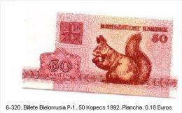 6-320. Billete Bielorrusia. P-1. 50 Kopecs 1992 - Belarus