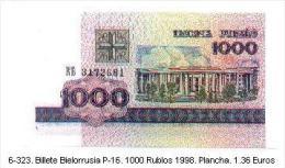 6-323. Billete Bielorrusia. P-16. 1000 Rublos 1998 - Belarus