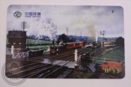 China Tietong Phone Card - Train/ Railway  Engine/ Steam Locomotive - Trenes